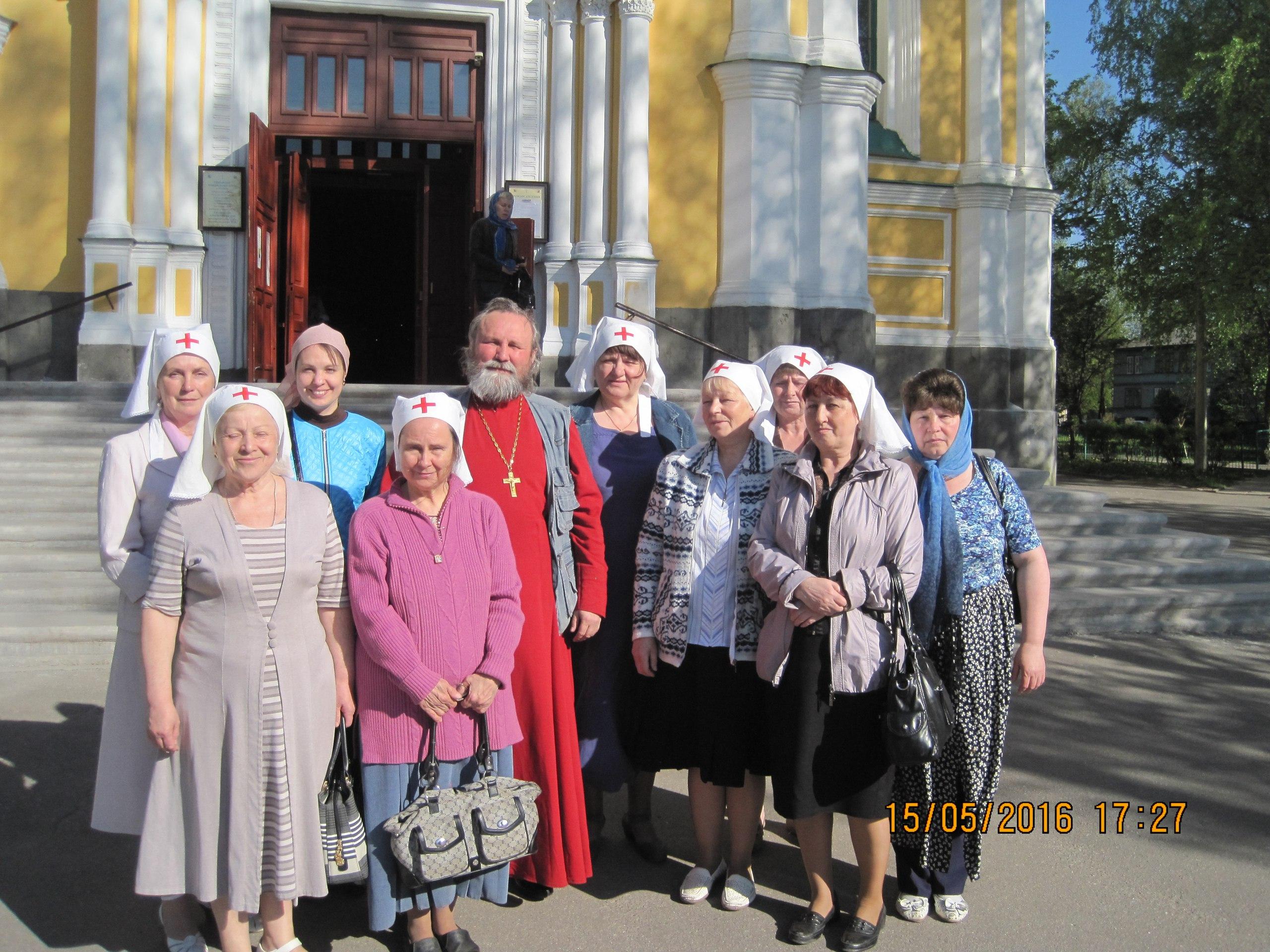 Посещение сестричества храма рав.